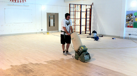 Primary School floor sanding