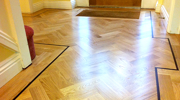 Hall way floor restoration